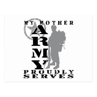 Mother Proudly Serves - ARMY Postcard