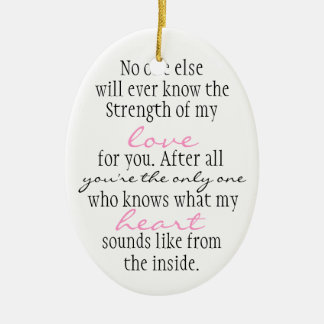 Mother Quote Christmas Ornament