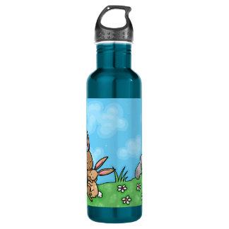 Mother Rabbit and Baby Bunny hug 710 Ml Water Bottle