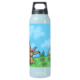 Mother Rabbit and Baby Bunny hug Insulated Water Bottle