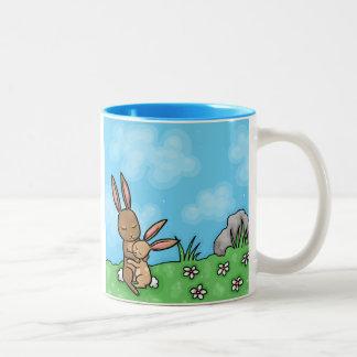 Mother Rabbit and Baby Bunny hug Mug
