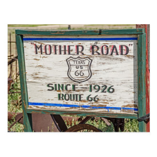 Mother Road Sign - Route 66 Postcard