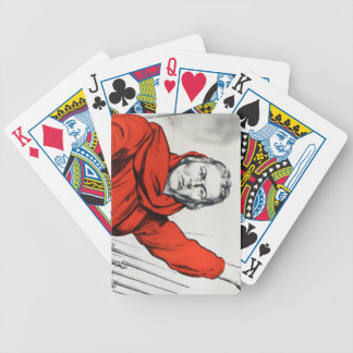 Mother Russia Communism Propaganda Bicycle Playing Cards