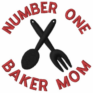 Mother s Day Baker Mom Embroidered T-Shirt