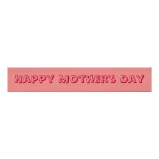 Mother s Day Banner Print