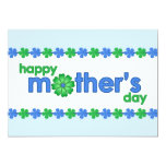 Mother's Day Blue Spring Flowers Invitation
