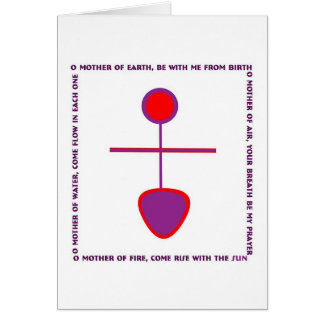 Mother s Day Card with Goddess Glyph