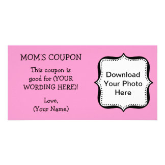 Mother s Day COUPON FOR MOM Personalized Photo Card