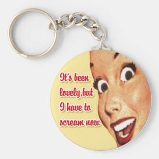Mother s Day Funny Retro Happy Housewife Keychain