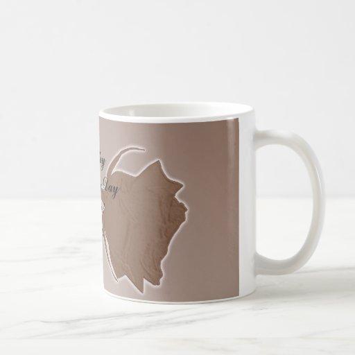 Mother`s Day Gift - Brown Rose Mug