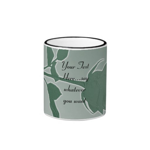 Mother`s Day Gift - Green Rose Mug