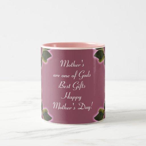 Mother`s Day Gift  Mug - Vintage Roses