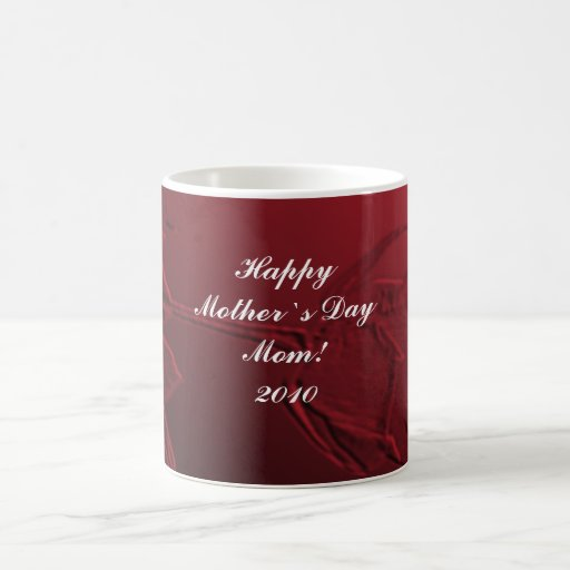 Mother`s Day Gift - Red Rose Mug