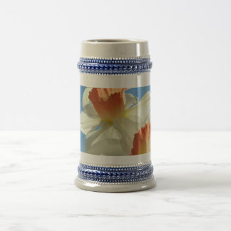 MOTHER'S DAY MUGS GIFTS 2 STEIN NARCISSUS Flowers