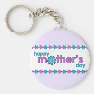 Mother's Day Purple Spring Flowers Keychain