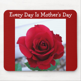 Mother s Day Red Rose Mouse Pads