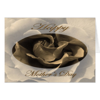 Mother's Day Rose in Sepia Greeting Card