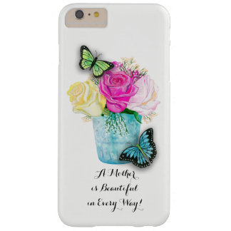 Mother's Day Spring Roses in Vase with Butterflies Barely There iPhone 6 Plus Case