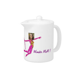 "Mother' S Day Teapot - Personalyze ""Wonder MoM """