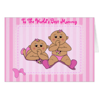 Mother s Day - Twin Baby Girls Card