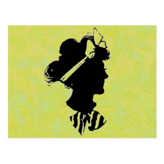 Mother s Day Vintage Woman Silhouette Postcards