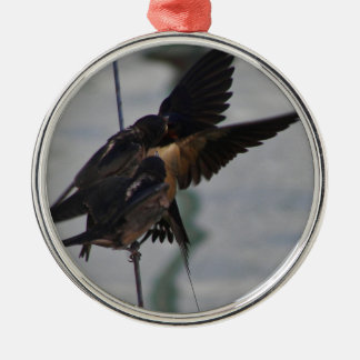 Mother swallow christmas ornament