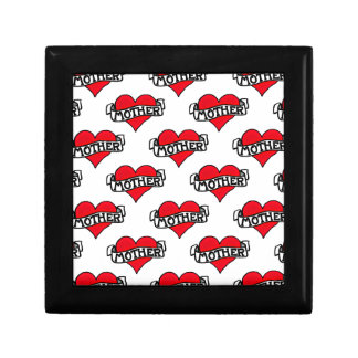 Mother Tattoo Small Square Gift Box