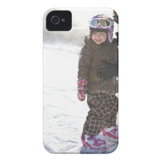 Mother Teaching Daughter To Snowboard iPhone 4 Cover