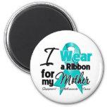 Mother - Teal Awareness Ribbon Fridge Magnets