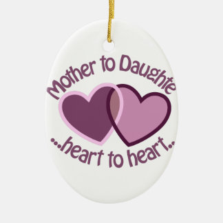 Mother To Daughter Christmas Ornament