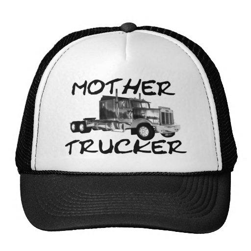 MOTHER TRUCKER - BLACK & WHITE MESH HATS