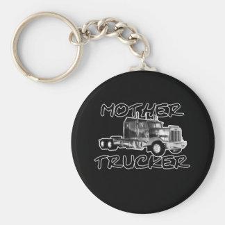 MOTHER TRUCKER - BLACK & WHITE KEY RING