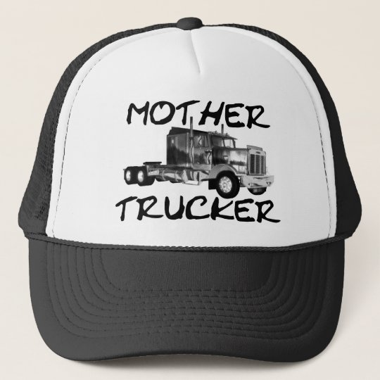 MOTHER TRUCKER - BLACK & WHITE TRUCKER HAT