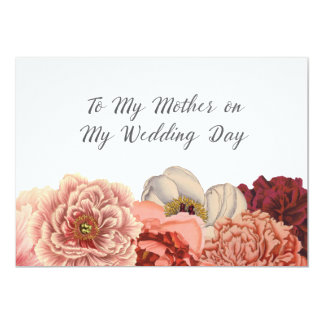 Mother Wedding Day Thank You Card 13 Cm X 18 Cm Invitation Card
