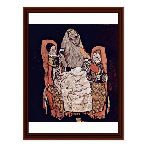 Mother With Two Children (The Mother) Post Card