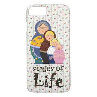 Mother Woman Ageing Life Funny Matryoshka Floral iPhone 8/7 Case