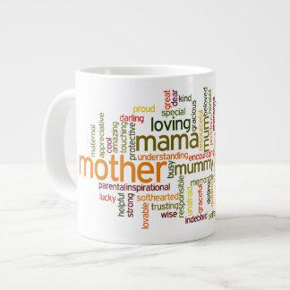 Mother Word Cloud Jumbo Mug