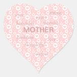 Mother Words Heart Sticker
