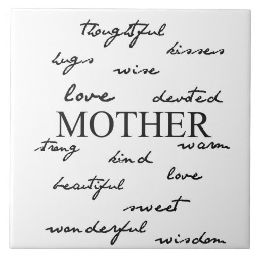 Mother Words Large Square Tile