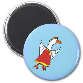 motherduck 6 cm round magnet