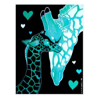 Motherhood: Giraffes Postcard