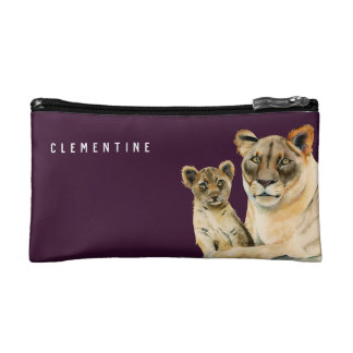 Motherhood | Lioness and Cub | Add Your Name Cosmetic Bag