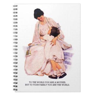 Motherhood. Mother's Day Vintage Art Gift Notebook