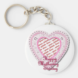 Mothering Sunday Laced Heart Photo Frame Key Chains