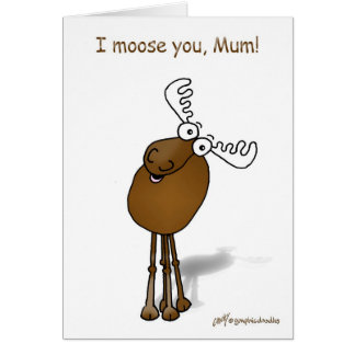 Mothering Sunday Moose Card