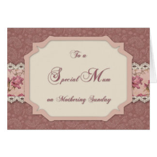 Mothering Sunday Shabby Rose Card