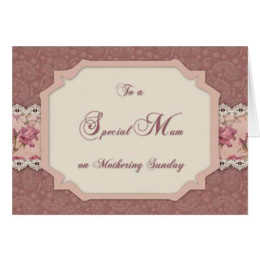 Mothering Sunday Shabby Rose Greeting Cards