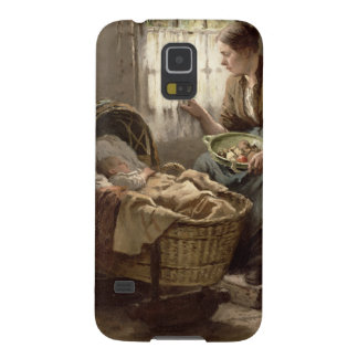 Motherly Affection (oil on canvas) Galaxy S5 Covers