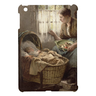 Motherly Affection (oil on canvas) iPad Mini Cover