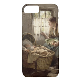 Motherly Affection (oil on canvas) iPhone 8/7 Case